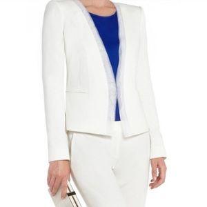 BCBGMAXAZRIA Blazer With Tulle Trim